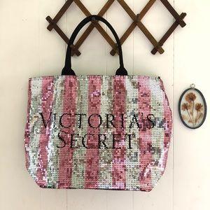 Victoria's Secret • Large Sequins Tote Bag